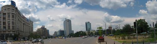 Piaţa Victoriei, Bucureşti - panorama hdr