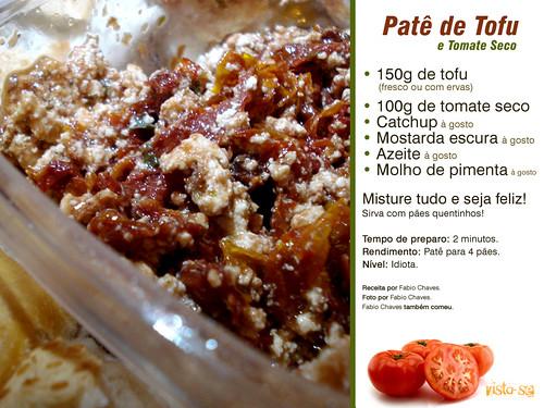 Patê de Tofu com Tomate Seco