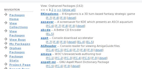 New orphan list