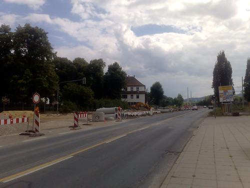 Baustelle Stadtrodaer Straße