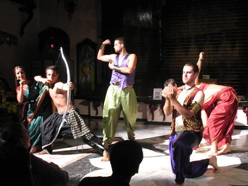 Draupadi Arjuna Bhima and Yudhisthir por NityanandaChandra.