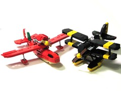 Seaplanes (psiaki) Tags: anime plane airplane boat flying lego aeroplane float seaplane biplane curtiss moc porcorosso savoia