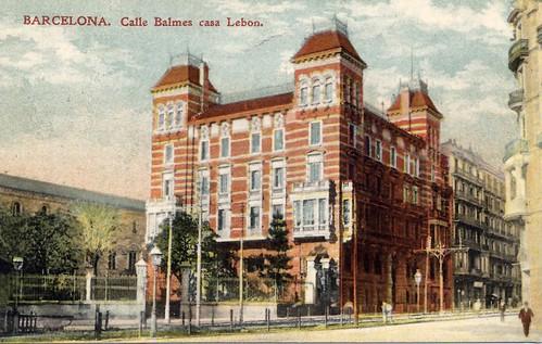 Calle Balmes, casa Lebon
