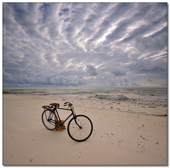 Zanzibar Beach Bicycle (Vertorama) (Panorama Paul) Tags: beach bicycle tanzania zanzibar soe novideo supershot nohdr mywinners abigfave shieldofexcellence visiongroup vertorama nikond300