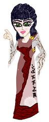 jaja (alferas9kuw) Tags: red color girl lady photoshop dark model drawing coloring draw    alferas9kuw