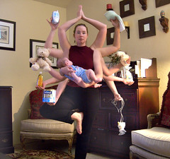 Day 348 Domestic Goddess (ladyhawke365) Tags: bear baby tree yoga pose mom milk bottle infant arms teddy mommy goddess mother diaper monitor shampoo pump domestic formula balance soy rag burp multitasking vrksasana supermom medela enfamil 365days 365set