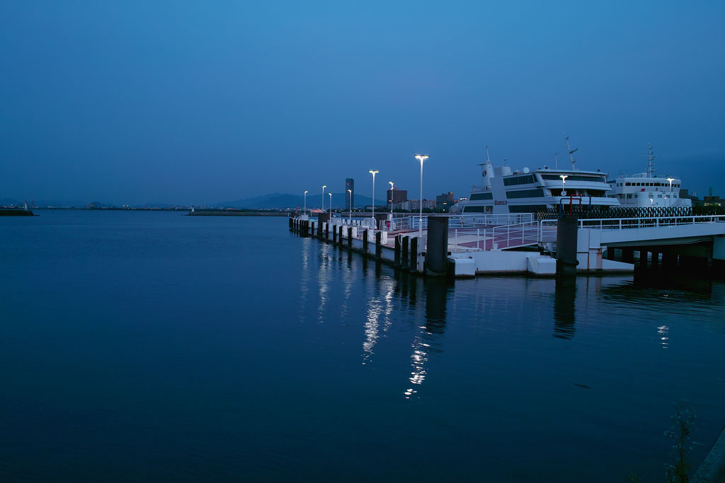 Otsu port in twilight