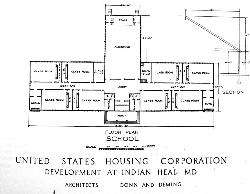 Indian Head, MD Public School floor plan