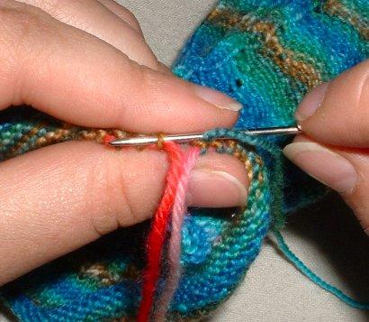toeuppicohemtutorial 03 first stitch