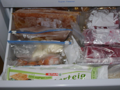 Re-organizing the freezer