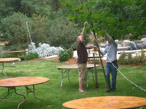 a backyard wedding: Q&A: How do you light a backyard?