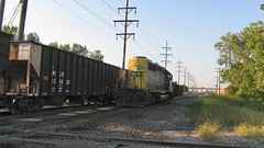 Southbound CSX Transportation Company light engine movement. Hawthorne Junction. Chicago / Cicero Illinois. September 2008.