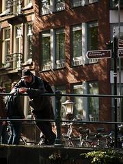 Watching (jabberwocky381) Tags: boat watching amsterdamcanal