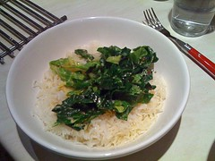 spring greens in coconut milk
