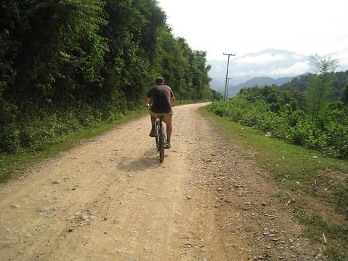 Mountain biking east of Luang Prabang
