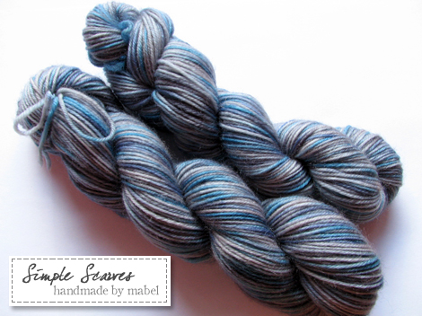 Superwash Sock Yarn - Blue Silver