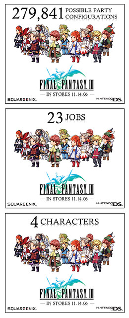 Square Enix Final Fantasy III Banner Ads by tenfour archive