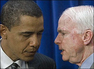Barrack Obama and John McCain