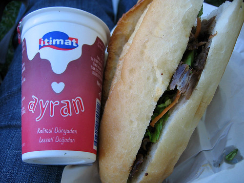Ayran and doner kabab
