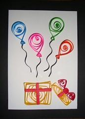 Cumpleaos filigrana (Georgettedf) Tags: pink blue red orange verde green art blanco yellow azul balloons paper rojo arte handmade negro rosa colores amarillo card present papel globos cumpleaos naranja regalo carto regalos quilling tarjeta tarjetas filigrana