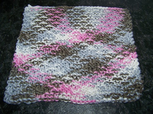 Double Moss Dishcloth