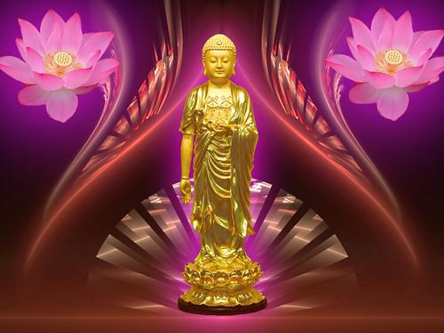 Golden Amitabha Buddha [Desktop 1024 x 768]