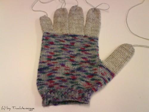 Handschuh aus Resten