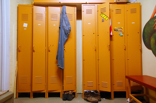 My body-image happy place. Yes, a gym locker room!