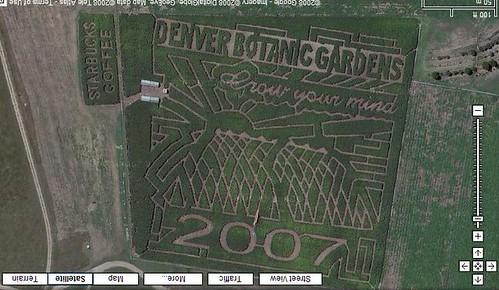 Denver Botanic Gardens Corn Field Maze