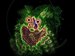 The Ghost of Louis Wain.. (Sea Moon) Tags: cat scary trippy psychedelic multicolored psychotic schizophrenia louiswain