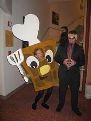 Waffle World Waffle with the Evil Dr. Calico. (daradactyl) Tags: world disney bolt animation waffle