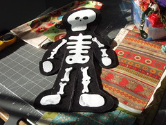 felt skeleton layout