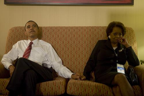 Barak Obama and mama