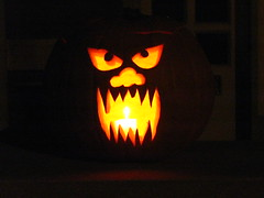 MOMOLANTERN (kopper) Tags: halloween monster pumpkin momo jackolantern missouri 2008 porchpumpkins