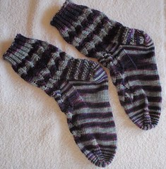 Eyelet & Flame Chevron Socks