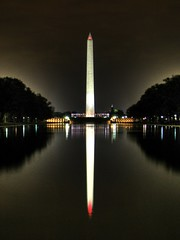 Washington Monument Reflection (Kevin Borland) Tags: park usa reflection night washingtondc districtofcolumbia unitedstates south obelisk northamerica washingtonmonument reflectingpool hdr southernunitedstates nationalmemorial protectedarea 3px nationalcapitalregion unitedstatespresidentialmemorial nationalmallandmemorialparks scoreyou44 southatlanticstates greaterwashingtonmetropolitanarea nationalcapitalparks