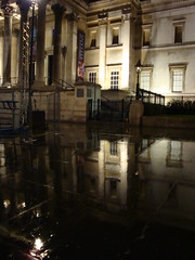 National Galery & reflection in puddle (3)