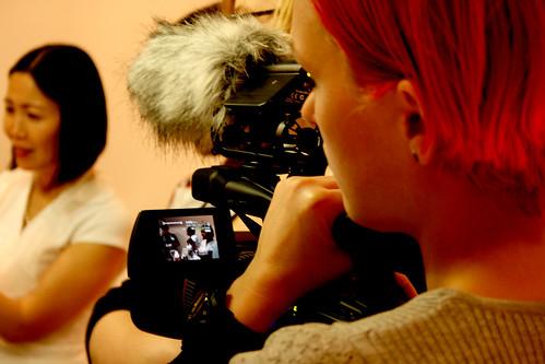 Laura filming
