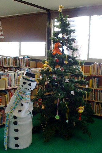 Library at Christmas