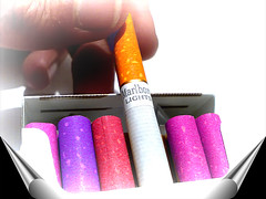 which one ? (Mouin.M) Tags: pink red stilllife hot art colors yellow colours purple cigarette smoke cancer cellphone class health smokers cigare nicotine destroy paquet marlborolights mouinmlayah