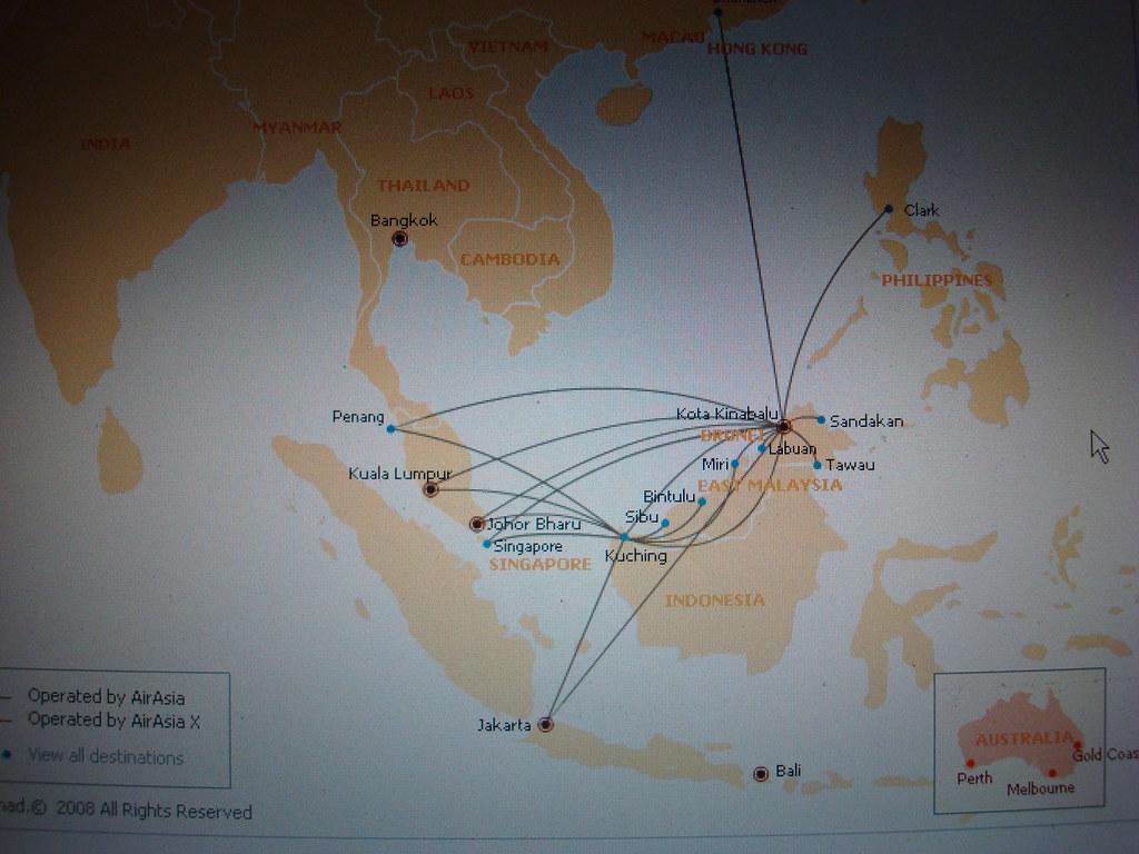 Air Asia - Kota Kinabalu Hub Routes