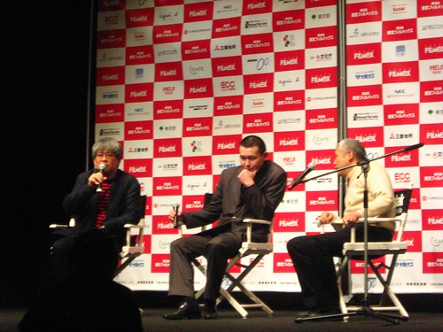 Director Abai Kulbai during Q and A session for 'STRIZH' at Tokyo Filmex