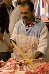 Cut! - 20081129_0046ed (Dimitris Papazimouris) Tags: street greek market cut athens meat greece butcher immigrant canon30d canon24105f4