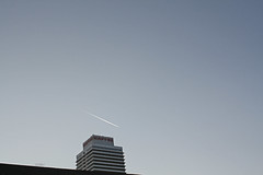 Port Olimpic (charledouard) Tags: barcelona sky port plane tour aereo avion barcelone torres olimpic skyscrapper portolimpic mapfr