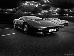 Jaguar XJ220 (Baby Skinz) Tags: sky blackandwhite bw storm slr clouds race wow grid mercedes track dramatic ferrari turbo mclaren porsche enzo jag jaguar straight lamborghini supercar goodwood zonda racer f40 f50 722 xj220 jaguarxj220 supercarsunday goodwoodbreakfast