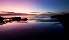 Split (BarneyF) Tags: pink blue sea sky seascape color reflection beach rock westkirby merseyside hilbreisland
