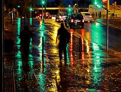 Under The Rain (Jordi Meneses S.) Tags: reflection rain night lights luces noche lluvia reflexions nit reflejos llums reflexes pluja jordimeneses