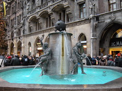 Fish Fountain in Marienplatz