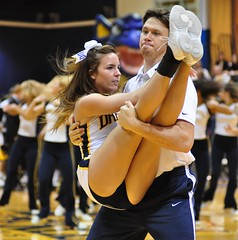 Gee..Did I Hand In My Homework Today? (MNJSports) Tags: college dance cheerleaders jazz cheer drexel backflip danceteam drexelspiritgroups
