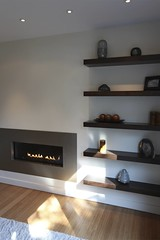 Modern fireplace (Steve Kuhl) Tags: design fireplace kuhl powdercoating modernfireplace modernshelves